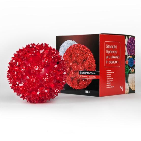 Red LED Starlight Sphere