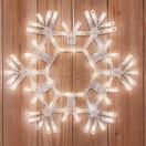 "20"" LED Warm White Folding Snowflake"