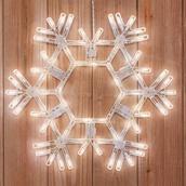 "20"" LED Warm White Folding Snowflake"