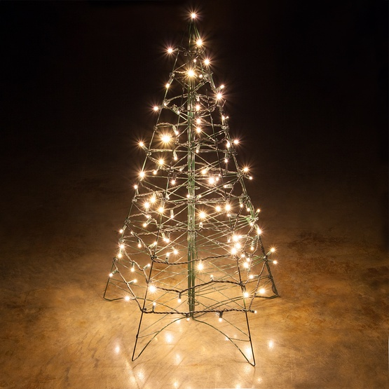 lighted warm white led outdoor christmas tree. Black Bedroom Furniture Sets. Home Design Ideas