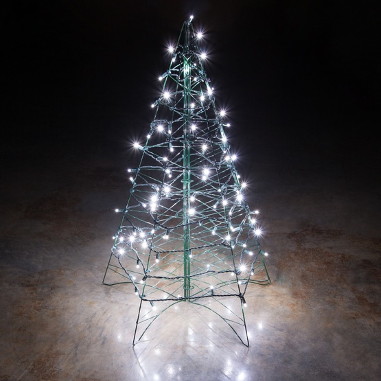 lighted cool white led outdoor christmas tree. Black Bedroom Furniture Sets. Home Design Ideas