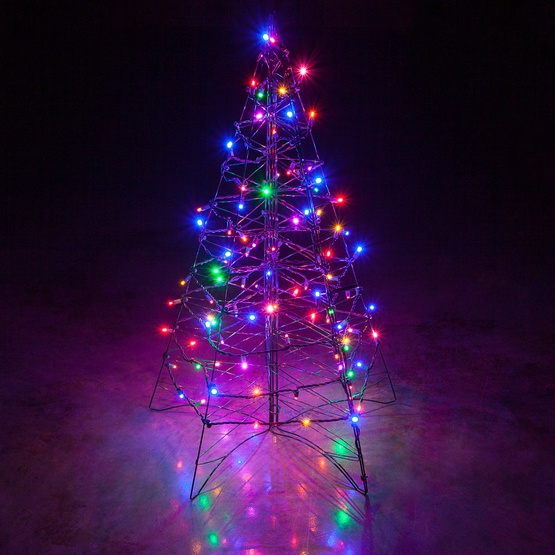 Led Lights For Outdoor Trees : Lighted Multicolor LED Outdoor Christmas Tree