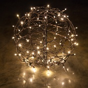 Warm White LED Hanging Light Sphere