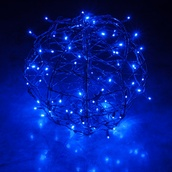 Blue LED Hanging Light Sphere
