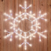 "36"" LED Warm White Folding Snowflake"