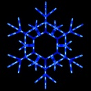 "36"" LED Folding Snowflake, Blue"