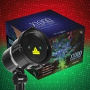 Green / Red X1000 Laser Christmas Light Projector