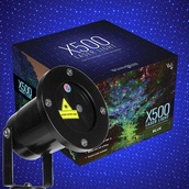 Blue X500 Laser Christmas Light Projector