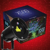 Red X500 Laser Christmas Light Projector