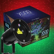 Green / Red X500 Laser Christmas Light Projector