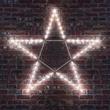 "32"" LED Folding Star Decoration, 50 Cool White Lights"