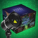Green X1000 Laser Christmas Light Projector