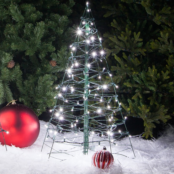 3 39 Lighted Cool White LED Outdoor Christmas Tree