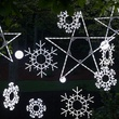 "36"" LED Folding Twinkle Snowflake Decoration, 105 Cool White Twinkle Lights"