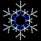"36"" LED Folding Snowflake, Blue and Cool White"