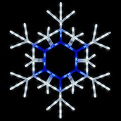 "36"" LED Blue and White Folding Snowflake"
