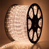 "148' Clear Rope Light, 2 Wire 5/8"" (16mm), 120 Volt"