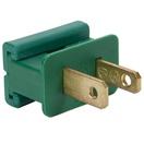 Male Zip Plug,  SPT2 Polarized Male Plug, Green, 5 Pack