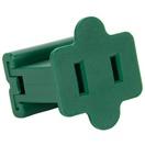 Female Zip Plug, SPT2 SPT2, Green, 5 Pack