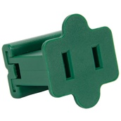 Female Zip Plug, SPT2 SPT2, Green, 5 Pack