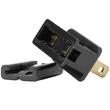Black Male Zip Plug, SPT1 Polarized