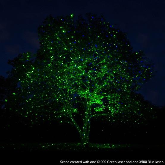 Reject Shop Laser Christmas Lights: Green X1000 Laser Christmas Light Projector