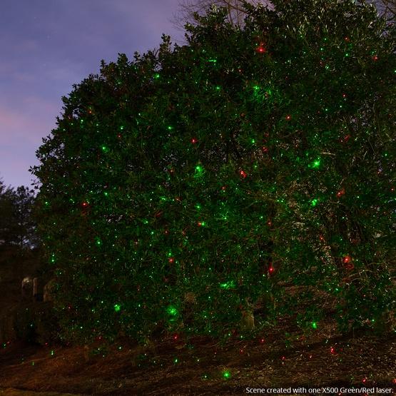 Reject Shop Laser Christmas Lights: Green / Red X500 Laser Christmas Light Projector