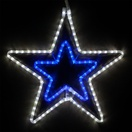 "22"" LED Blue and White 5 Point Star"