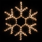 "28"" LED Warm White Snowflake"