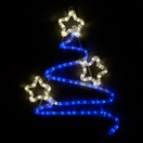 "20"" LED Blue and White Christmas Tree"