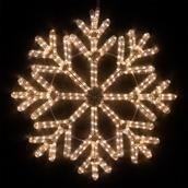 """24"""" LED Warm White Snowflake"""