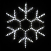 "28"" LED Cool White Snowflake"