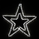 "22"" LED Cool White Five Point Star"