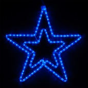 "22"" LED Blue Five Point Star"
