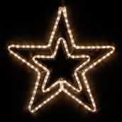 "22"" LED Warm White Five Point Star"