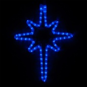 "18"" LED Blue Bethlehem Star"