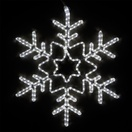 "28"" LED Cool White Star Center Snowflake"