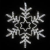 """28"""" LED Cool White Star Center Snowflake"""
