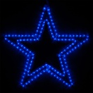 """24"""" Classic LED Blue Star"""
