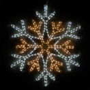 "28"" LED Cool and Warm White Snowflake"
