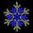 "28"" LED Blue and Cool White Snowflake"