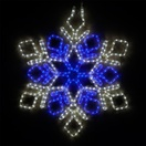 "28"" LED Cool White and Blue Snowflake"