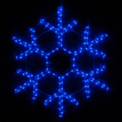 "36"" LED Blue Snowflake"