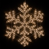 "24"" LED Warm White Snowflake"