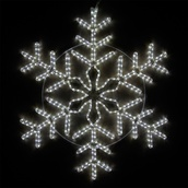 "48"" LED Cool White Snowflake"