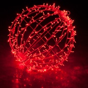 Red LED Hanging Light Sphere