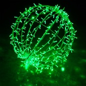 Green LED Hanging Light Sphere