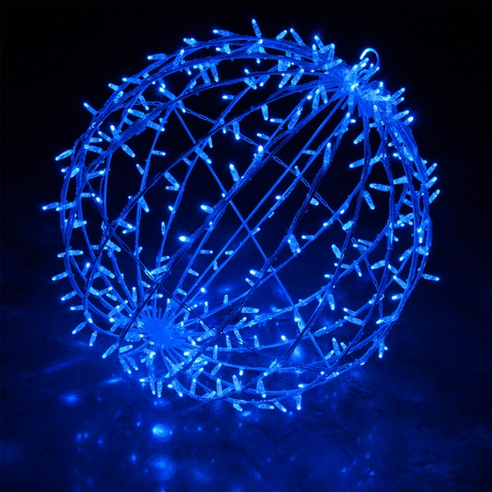 Hanging Light Spheres: Blue LED Hanging Light Sphere