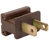 Brown Male Zip Plug SPT1 Polarized Male Plug, Brown