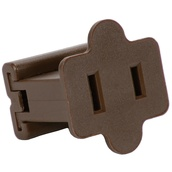 Brown Female Zip Plug SPT1, Brown